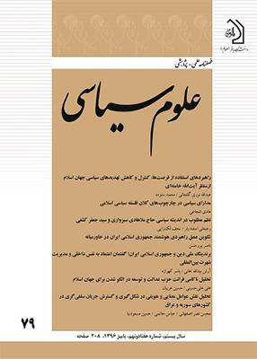 فصلنامه علمی پژوهشی علوم سیاسی